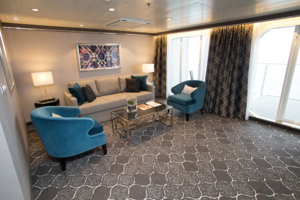 Inspiration from the cruise ship Harmony of the seas, where Dansk Wilton has delivered custom designed carpets