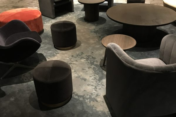 Dansk Wilton delivered custom designed Hand Tuft area rugs for Radisson Blu Royal Hotel