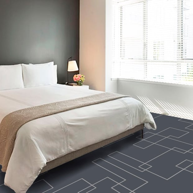Some of Dansk Wiltons carpet designs are inspired by textures and patterns of city facades and construction