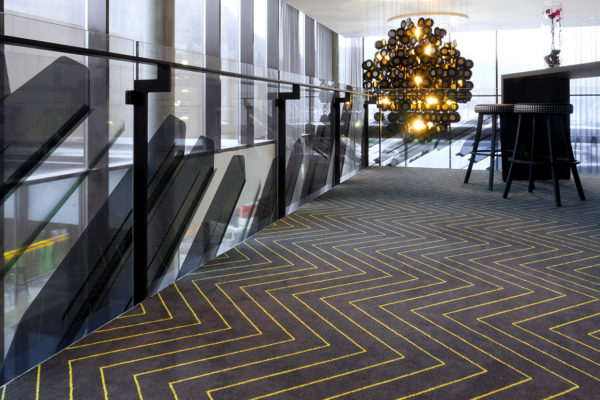 Unique carpet solution for Scandic Rock City hotel in Namsos, delivered by Dansk Wilton