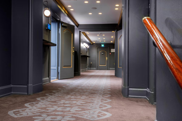 Dansk Wilton has delivered custom designed Colortec carpets for the conference facilities of the Scandic Palace Hotel in Copenhagen
