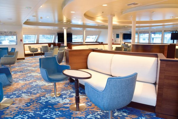 Lounge aboard National Geographic Quest.