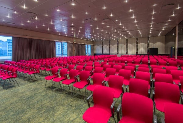 The conference facilities at Radisson Blu Scandinavia Hotel in Copenhagen has TWIST design carpets from Dansk Wilton