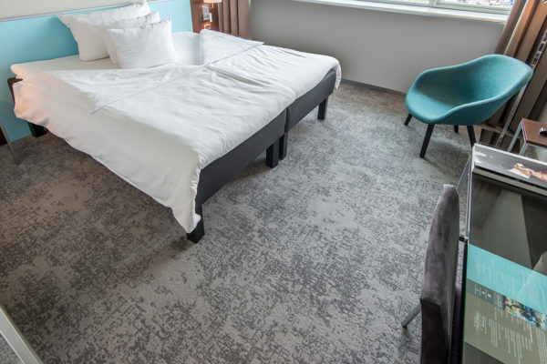 Carpet solution from Dansk Wilton for at room at the hotel, Scandic Sluseholmen in Copenhagen