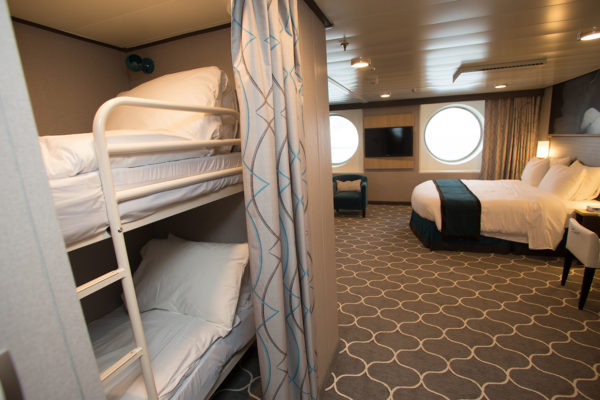 Carpet Solution from Dansk Wilton in a suite at the cruise ship Harmony of the Seas