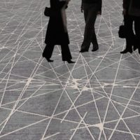The geometrical grids of modern architecture inspire Dansk Wilton for unique carpet solutions