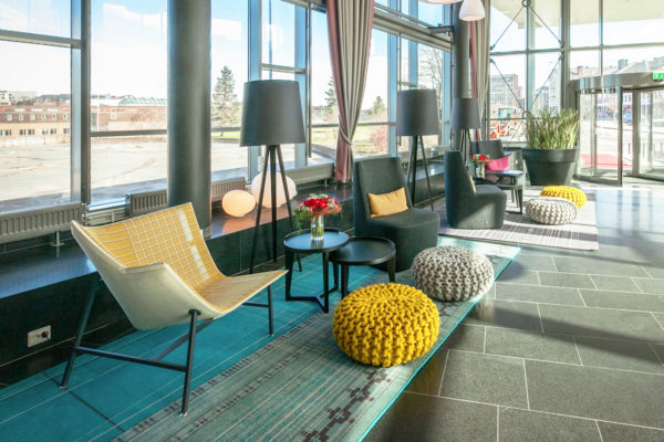 Sustainable carpet solution from Dansk Wilton at Scandic Hotel in Narvik
