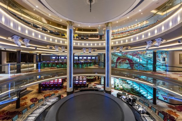 Inspiration from Asia's most luxurious cruise ships Dream Cruises, where Dansk Wilton delivered custom designed carpets for corridors, suites, passenger and crew areas