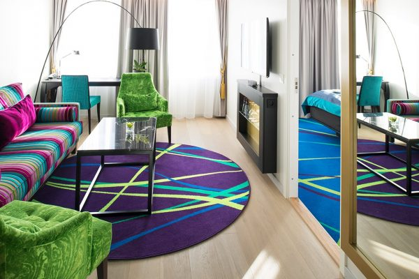Dansk Wilton has delivered custom designed Colortec carpets for the Thon Hotel Rosenkrantzs