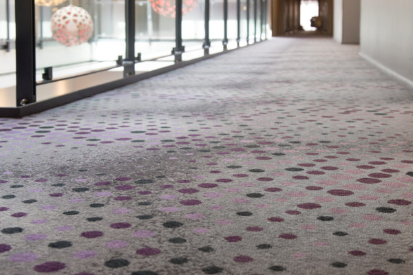 Carpet inspiration from Scandic Sluseholmen in Copenhagen, where Dansk Wilton delivered TWIST carpets for rooms and Colortec carpets for corridors