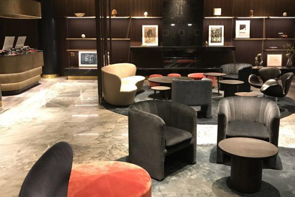 Dansk Wilton delivered custom designed Hand Tuft area rugs for Radisson Blu Royal Hotel