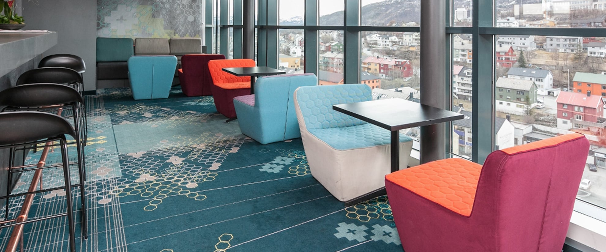 Colortec is a high quality carpet from Dansk Wilton, which ensures the luxury touch and an all-over comfortable feeling combined with a high durability to reduce costs in refurbishing cycles