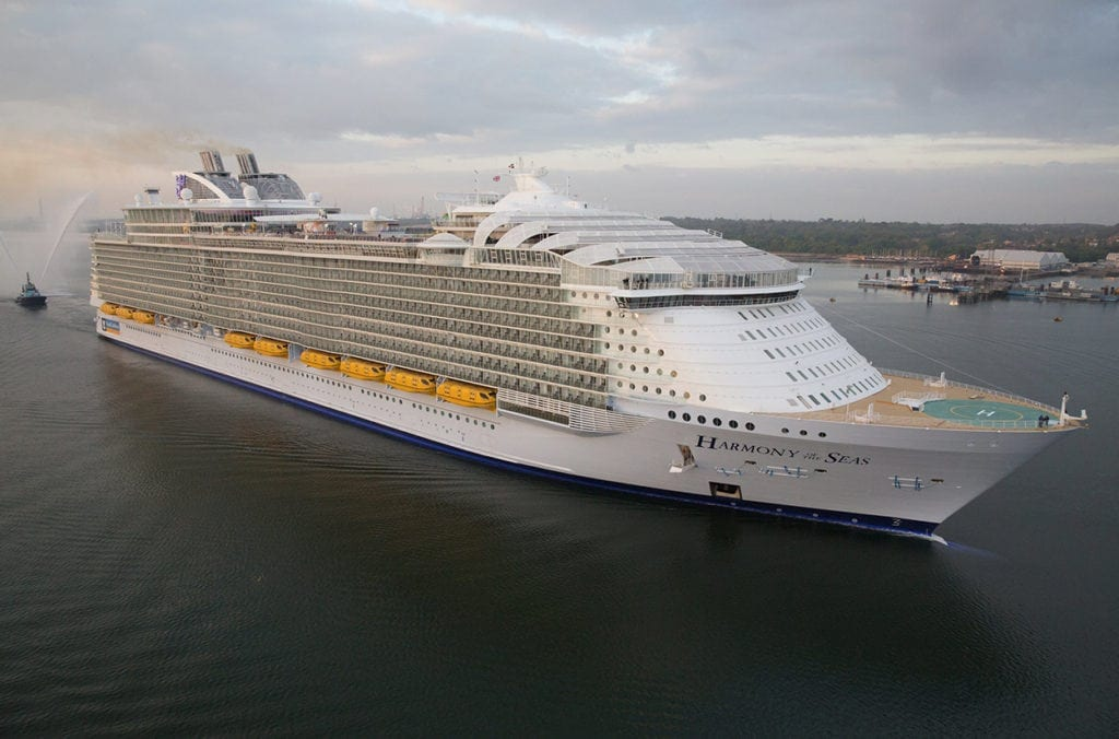 Dansk Wilton has delivered carpets for cruise ships like Harmony of the Seas