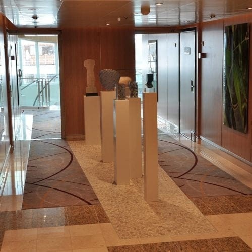 Unique carpet solution from Dansk Wilton for the cruise ship Seabourn Sojourn