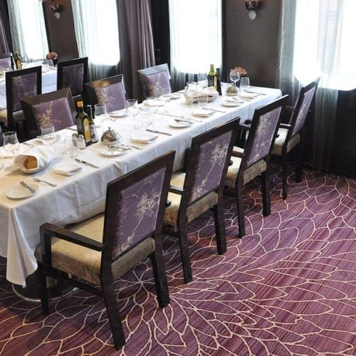 Dansk Wilton carpet solutions for the restaurant at the hotel Costa Neoromantica