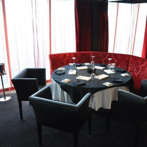 Unique carpet solutions for the restaurant at the cruise ship Seabourn Sojourn, delivered by Dansk Wilton