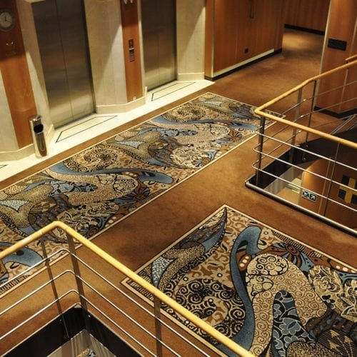Carpet Solution for the hotel Costa Neoromantica, delivered by Dansk Wilton