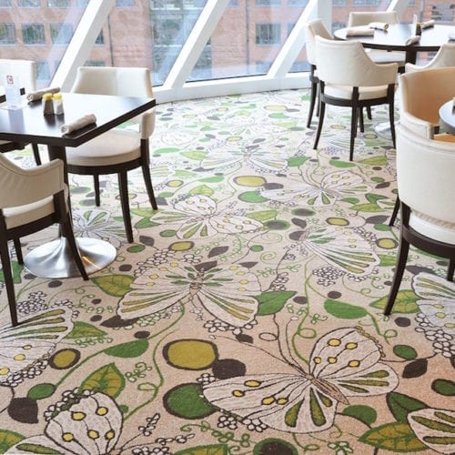 Custom made carpet solution for the hotel Costa Neoromantica, delivered by Dansk Wilton