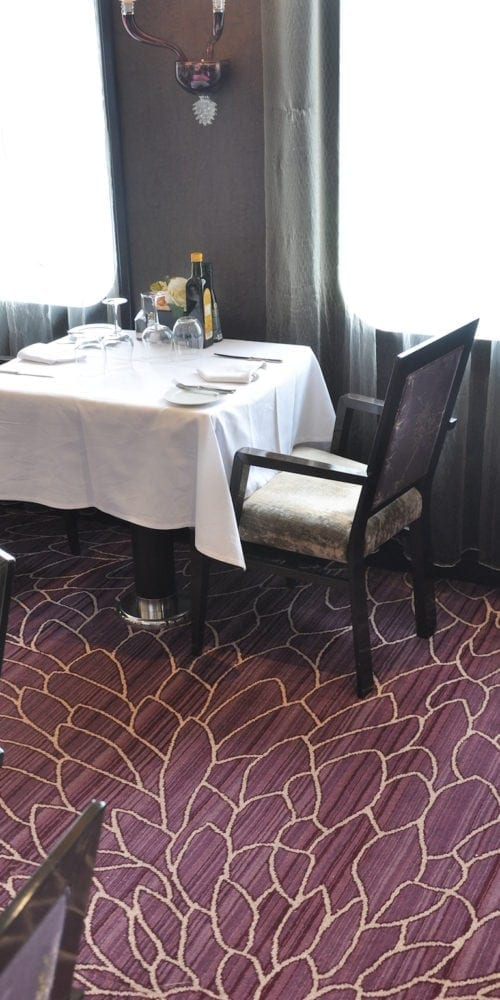 Carpet Solution from Dansk Wilton in a restaurant at the hotel Costa Neoromantica