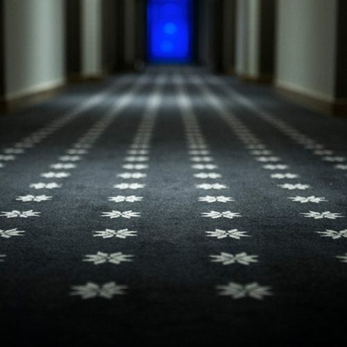 Unique carpet solution for Myrkdalen Hotel, delivered by Dansk Wilton