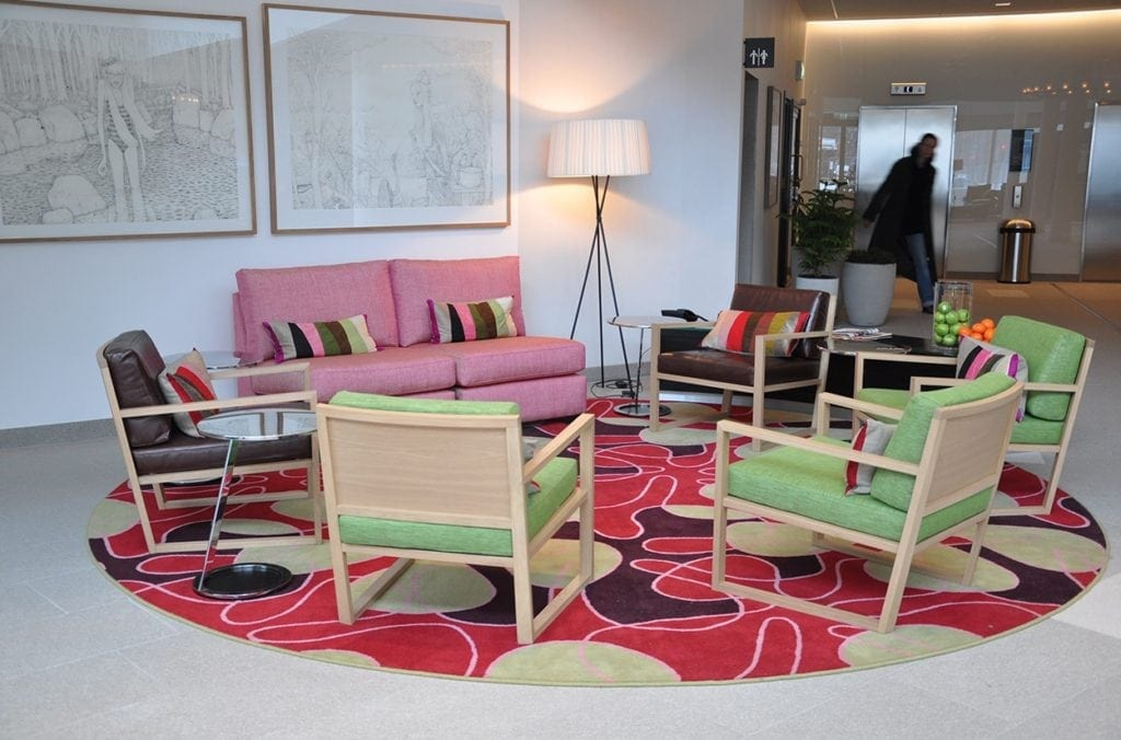 Dansk Wilton carpets for hotels at Mariott Courtyard in Stockholm