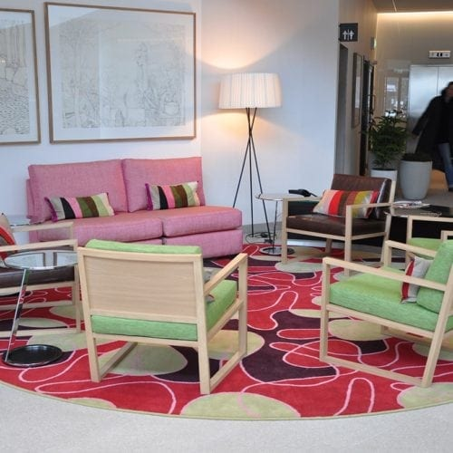 Carpet Solution for Mariott Courtyard in Stockholm, delivered by Dansk Wilton