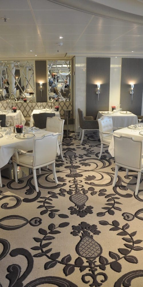 Beautiful carpet solutions for the hotel Costa Neoromantica, delivered by Dansk Wilton