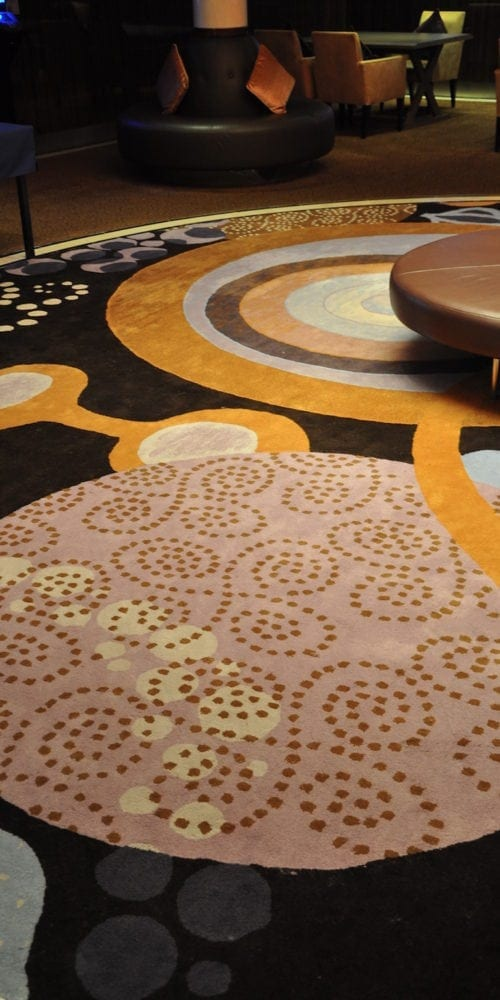 Unique carpet solution from Dansk Wilton for the hotel Costa Neoromantica