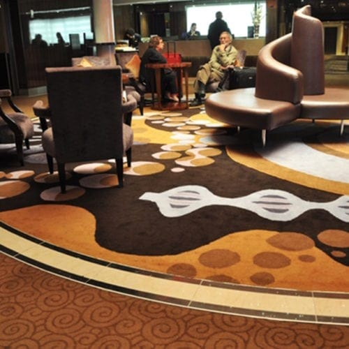 Dansk Wilton carpet solution for an area at the hotel Costa Neoromantica