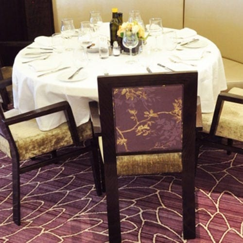 Custom designed carpet solution for the hotel Costa Neoromantica, delivered by Dansk Wilton