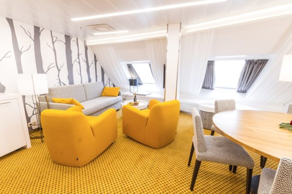 Unique Carpet Solution from Dansk Wilton at Silja Symphony