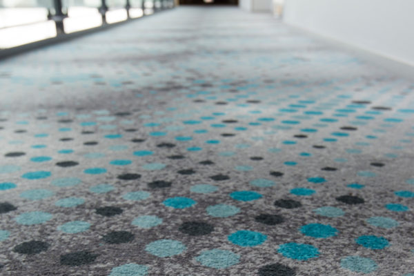 Sustainable carpet solution for the hotel Scandic Sluseholmen in Copenhagen, delivered by Dansk Wilton