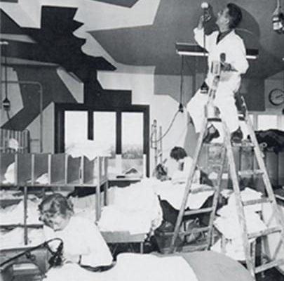Dansk Wilton factory in the early days