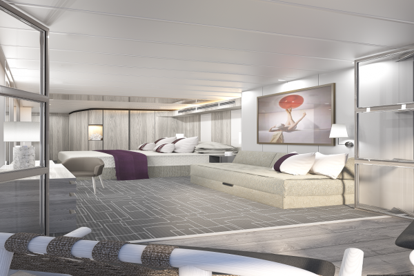Celebrity Edge cruise ship with carpets from Dansk Wilton