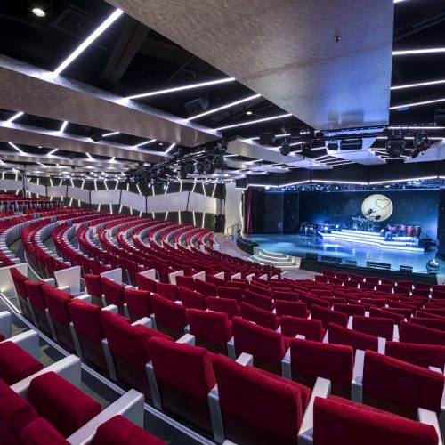 MSC Meraviglia Broadway Theatre with carpets for cruise ships from Dansk Wilton
