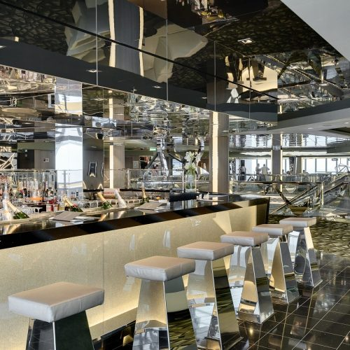 MSC Meraviglia Champagne Bar with carpets for cruise ships from Dansk Wilton