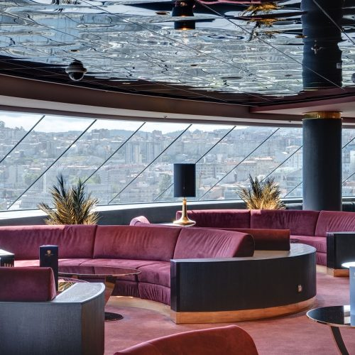 MSC Meraviglia Top Sail Lounge with carpets for cruise ships from Dansk Wilton