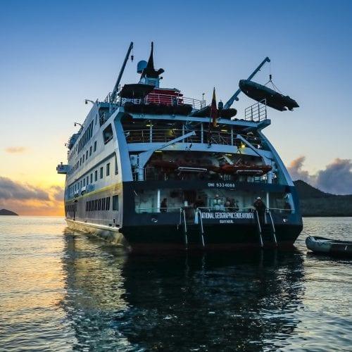 National Geographic Endeavour II. Floreana Island, Punta Cormorant, Galapagos National Park, Galapagos Islands, Ecuador