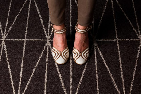Carpet Design Inspiration - Feet - Brown And Light Grey Coloured Carpet - ORIGIN - Dansk Wilton