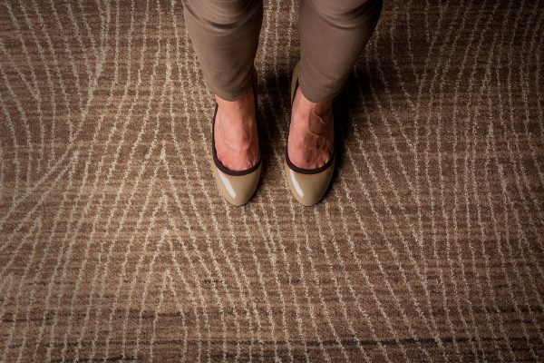Carpet Design Inspiration - Feet On Undyed Carpet - Multi Sand Coloured Carpet - ORIGIN - Dansk Wilton