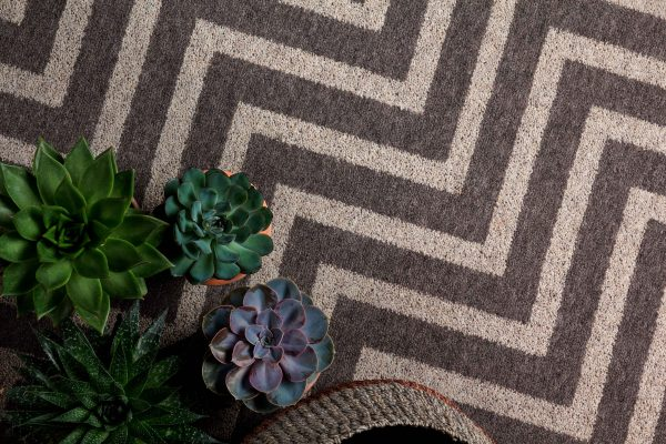 Carpet Design Inspiration - Green Plants - Grey And Sand Coloured Carpet -ORIGIN - Dansk Wilton