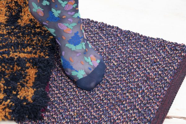 Dansk Wilton - Collaboration - Cabriella - Student Project - Sustainability - Reused Yarns - Carpet Designs - Purple Design