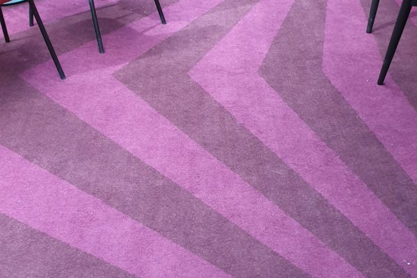 Dansk Wilton - Scandic Falkonér - Graphic Carpet - Purple & Pink Carpet Design